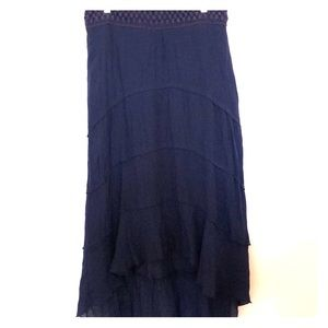 IZ Byer blue gauze skirt